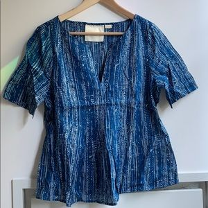 Maeve blue blouse - Anthropologie